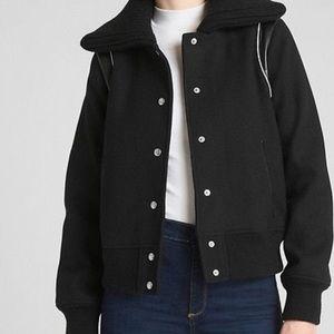 Wool bomber style jacket